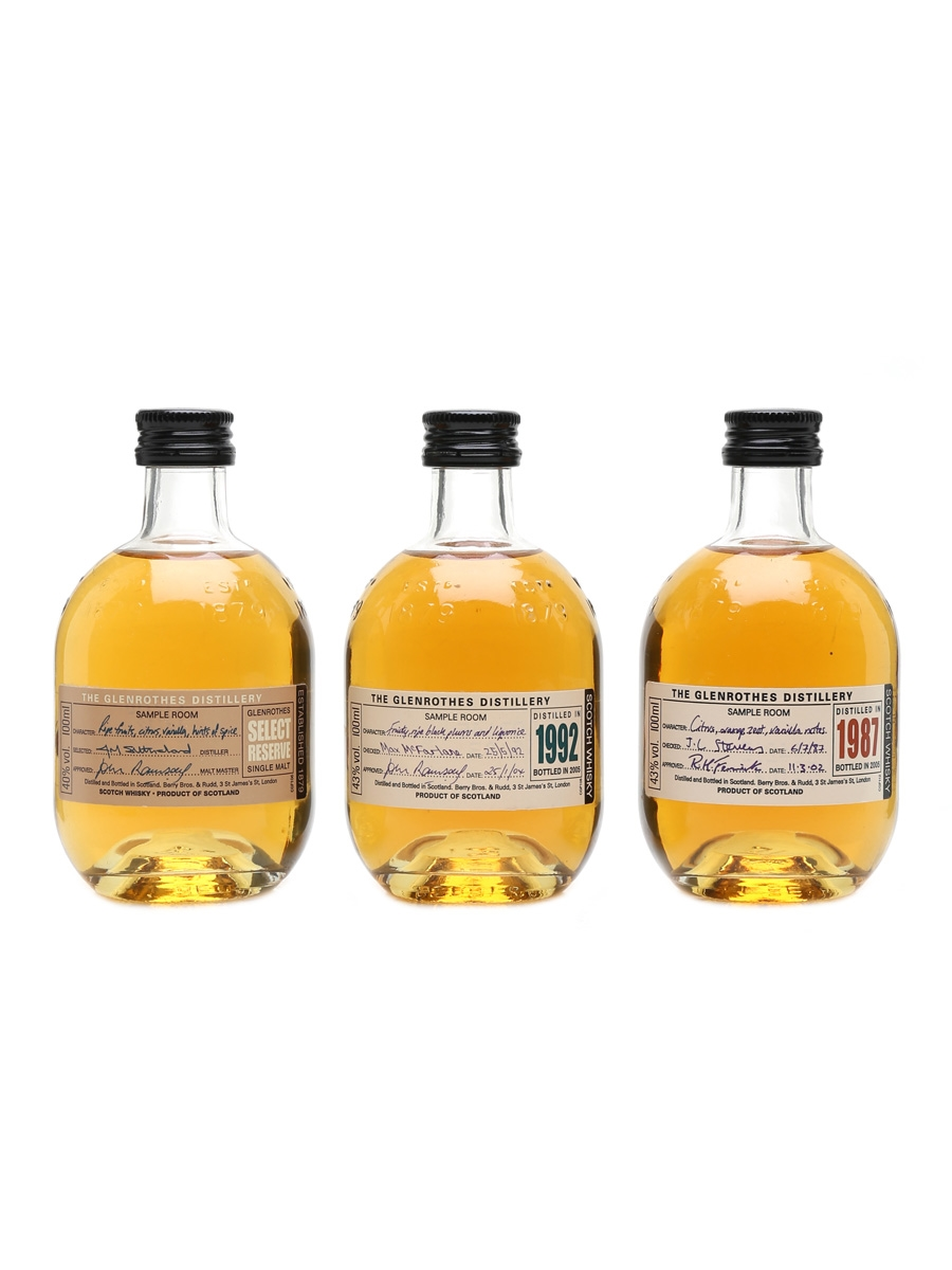 Glenrothes Select Reserve, 1987 & 1994  3 x 10cl