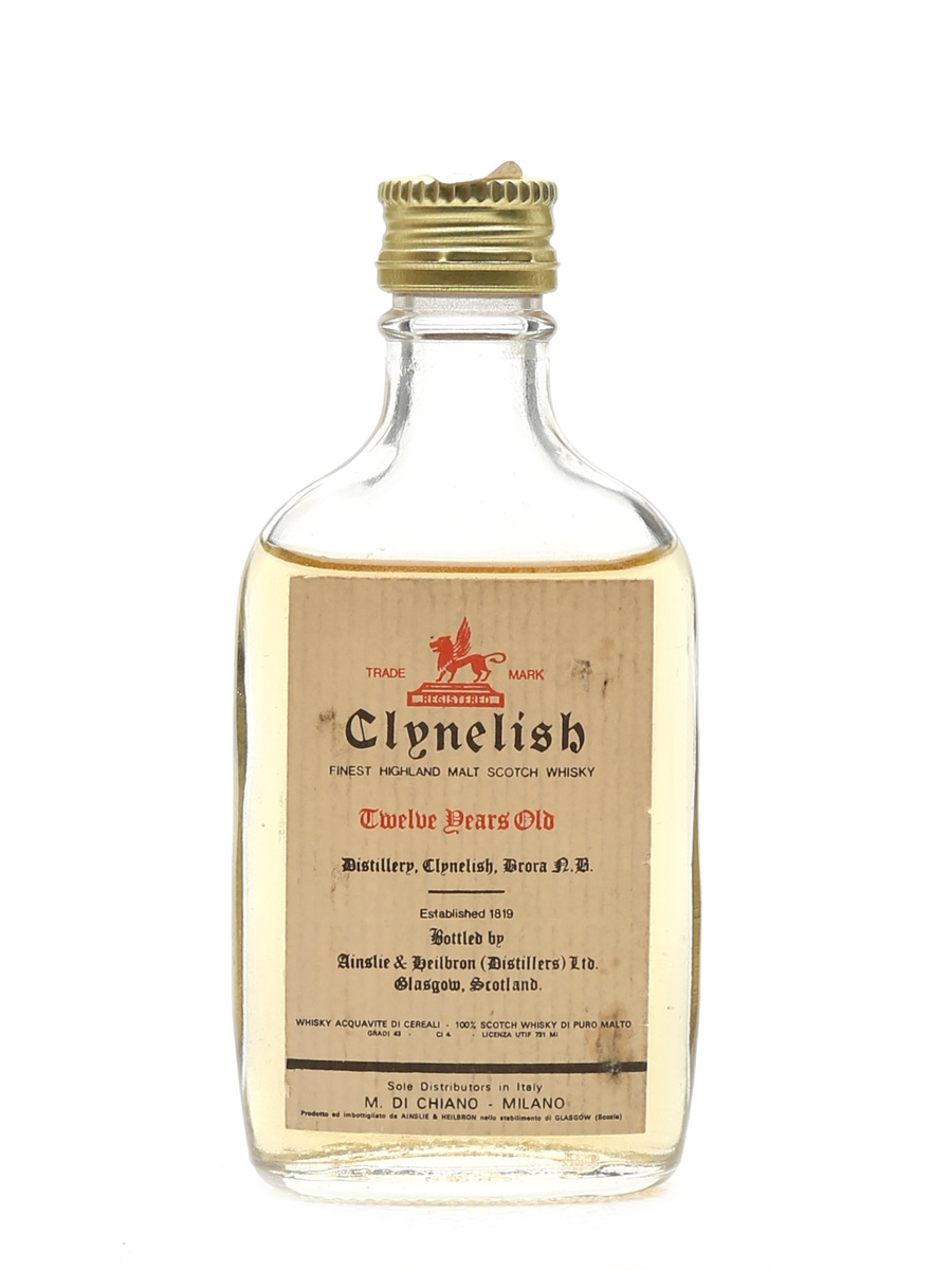 Clynelish 12 Year Old Bottled 1970s - M Di Chiano 4cl / 43%