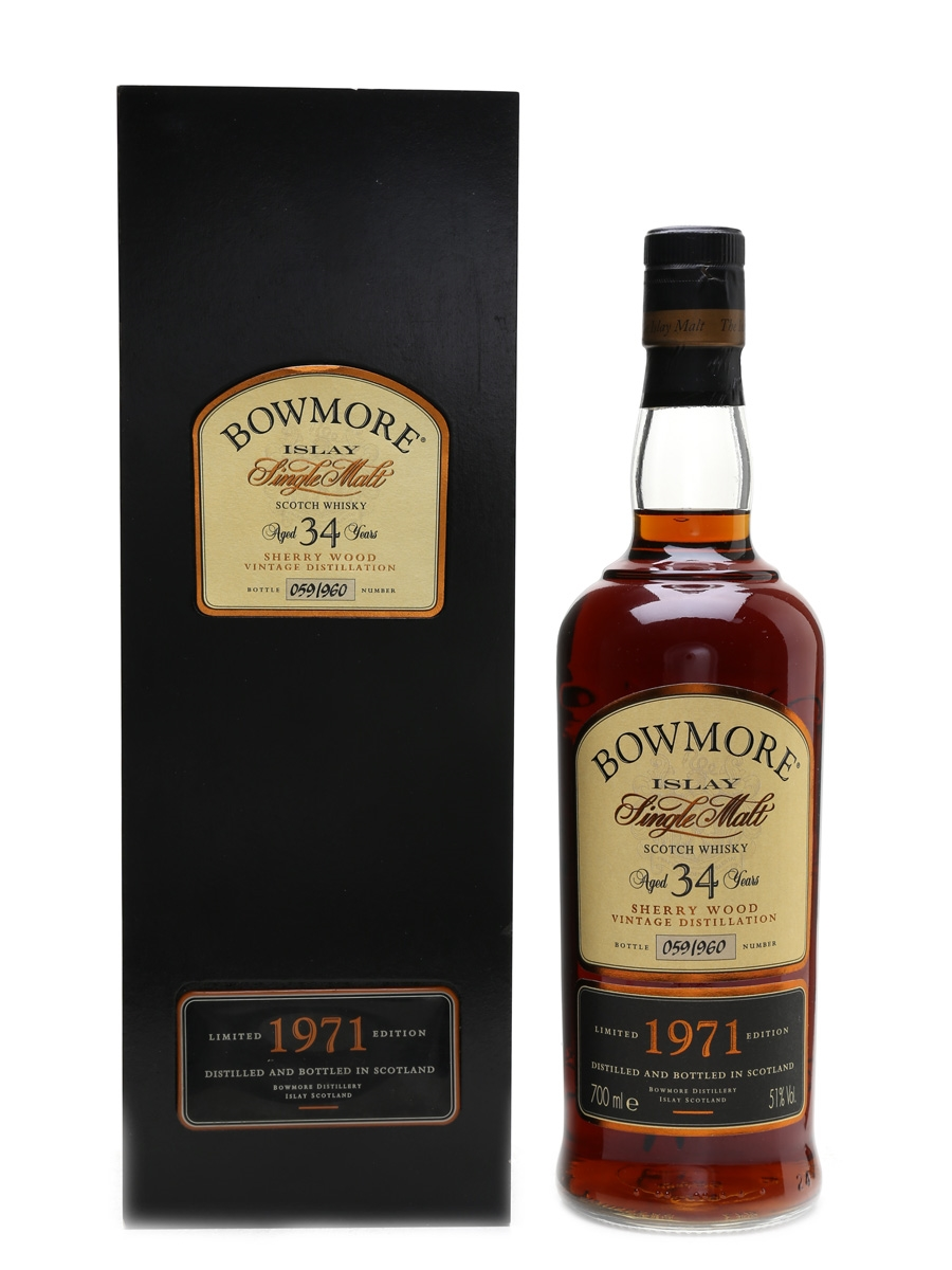Bowmore 1971 34 Year Old Sherry Wood 70cl / 51%