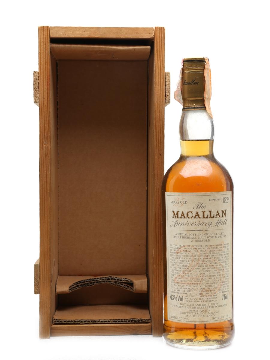 Macallan 1965 Anniversary Malt 25 Year Old - Giovinetti 75cl / 43%