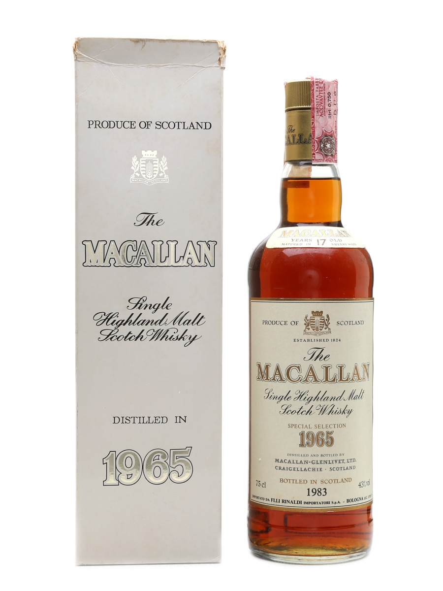 Macallan 1965 17 Year Old - Rinaldi 75cl / 43%