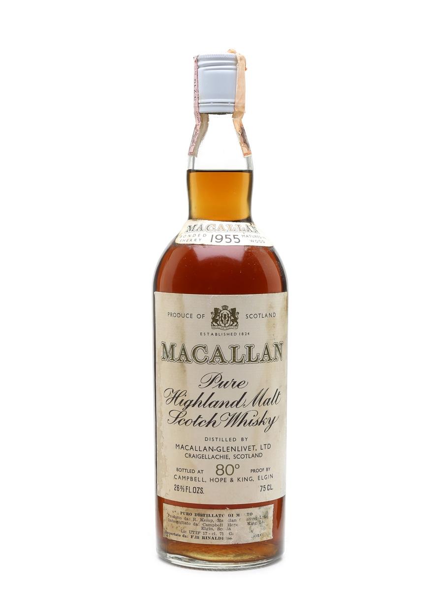Macallan 1955 Campbell, Hope & King Bottled 1970s - Rinaldi 75cl / 46%