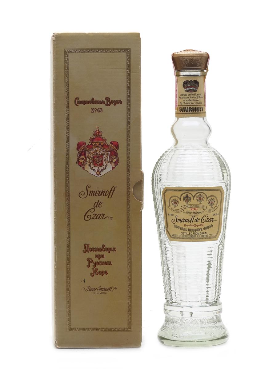 Smirnoff De Czar No.63 Bottled 1980s - Hartford, Connecticut 50cl / 41.3%