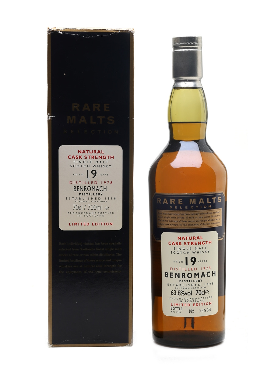 Benromach 1978 19 Year Old Bottled 1998 - Rare Malts Selection 70cl / 63.8%