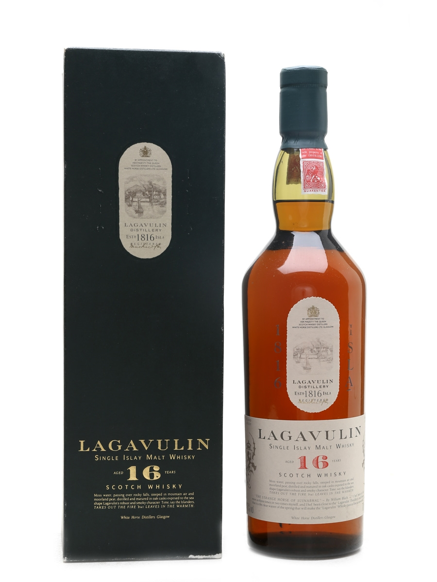 Lagavulin 16 Year Old Bottled Early 1990s - White Horse Distillers 70cl / 43%