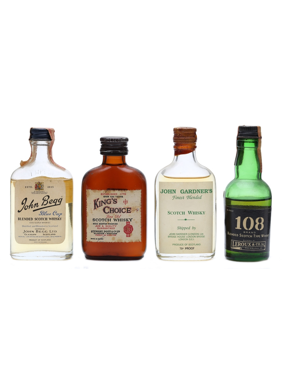4 x Blended Scotch Whisky Miniatures