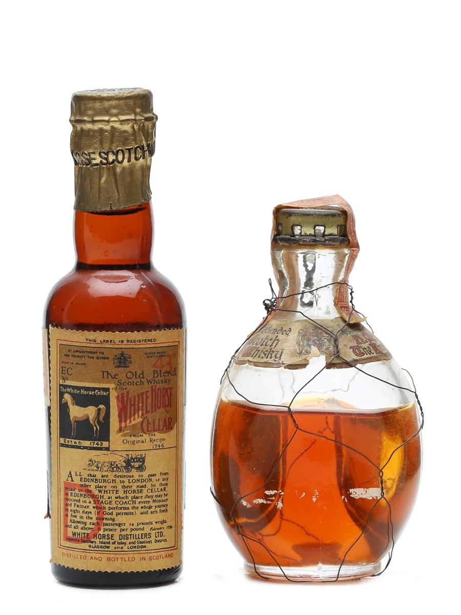 2 x Blended Scotch Whisky Bottled 1950s Miniatures