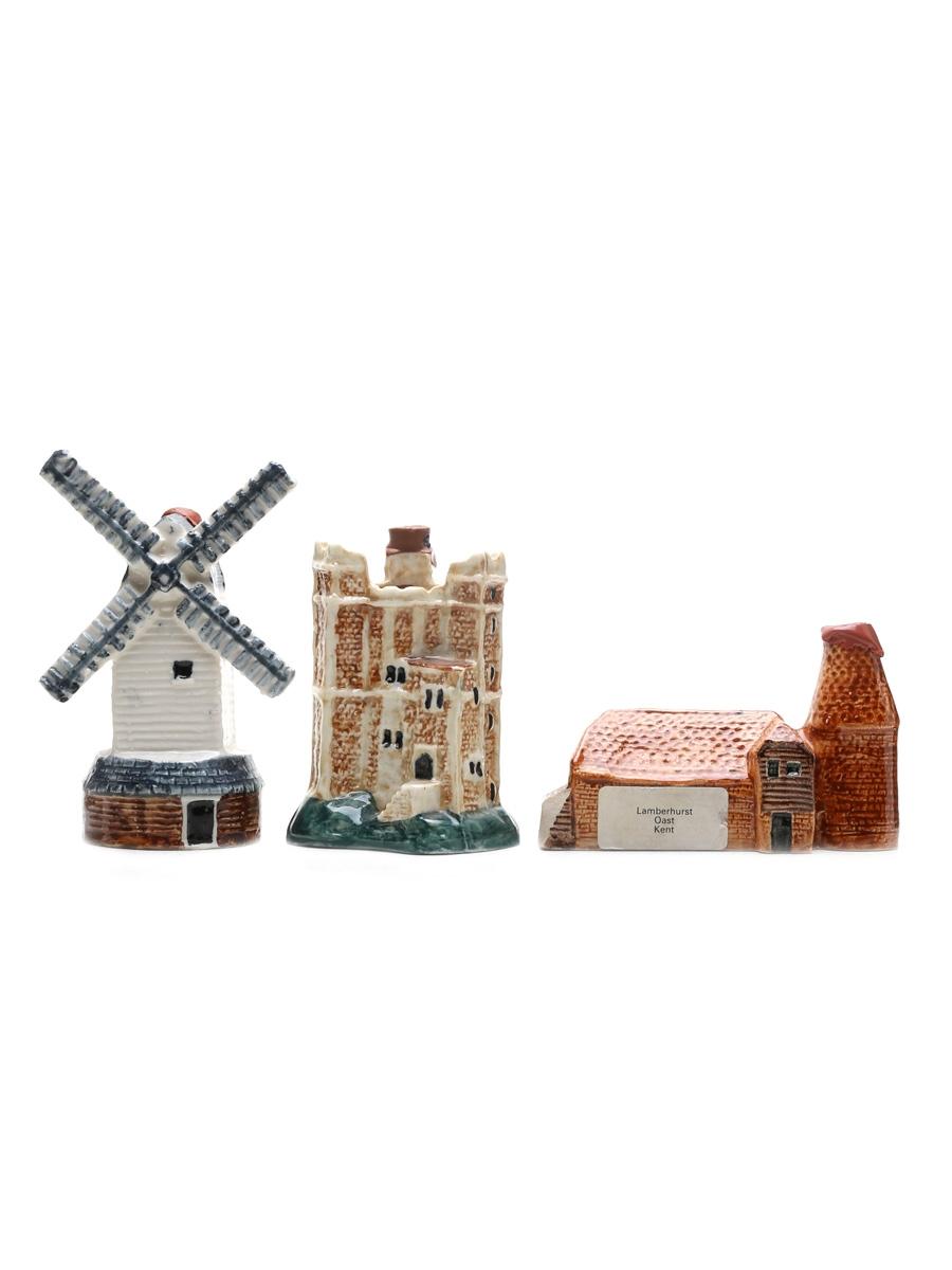 Dewar's & Teacher's Ceramic Miniatures Local Landmarks 3 x 7.5cl / 40%