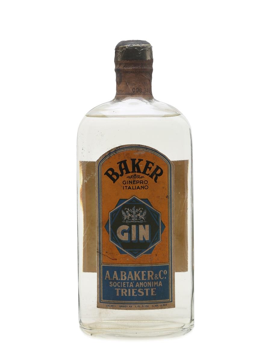 Baker Gin Bottled 1940s 75cl / 43%
