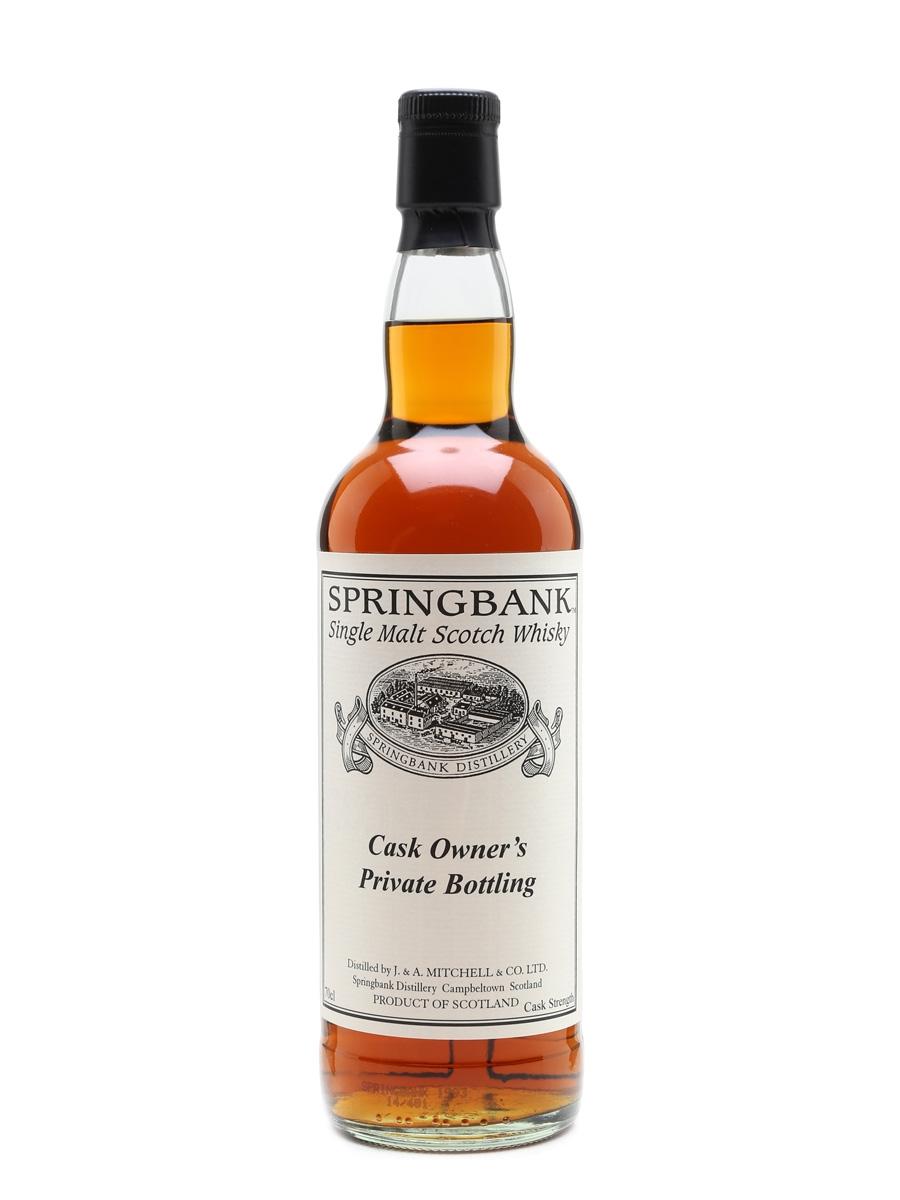 Springbank 1993 Cask #444 Cask Owner's Private Bottling 70cl