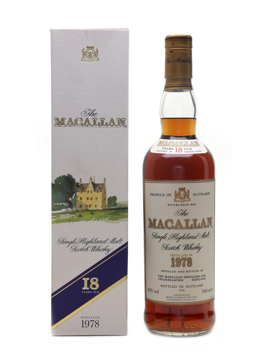 Macallan 1978 18 Year Old - Remy Australia 70cl / 43%