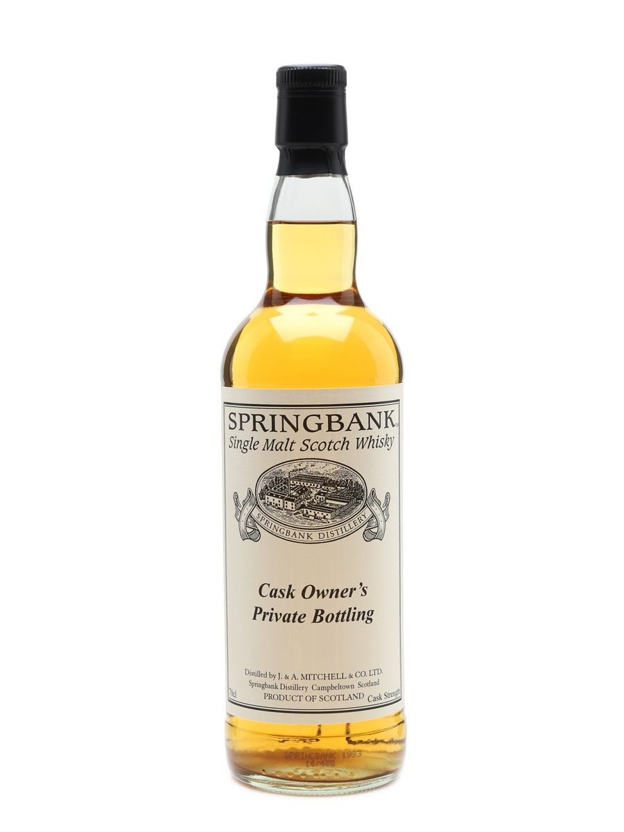 Springbank 1993 Cask #546 Cask Owner's Private Bottling 70cl / 49.7%