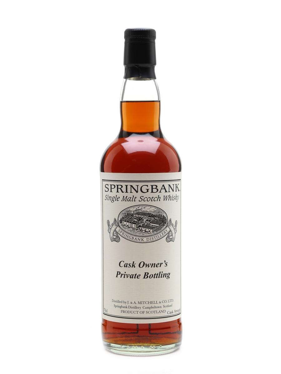 Springbank 1995 Cask #545 Cask Owner's Private Bottling 70cl