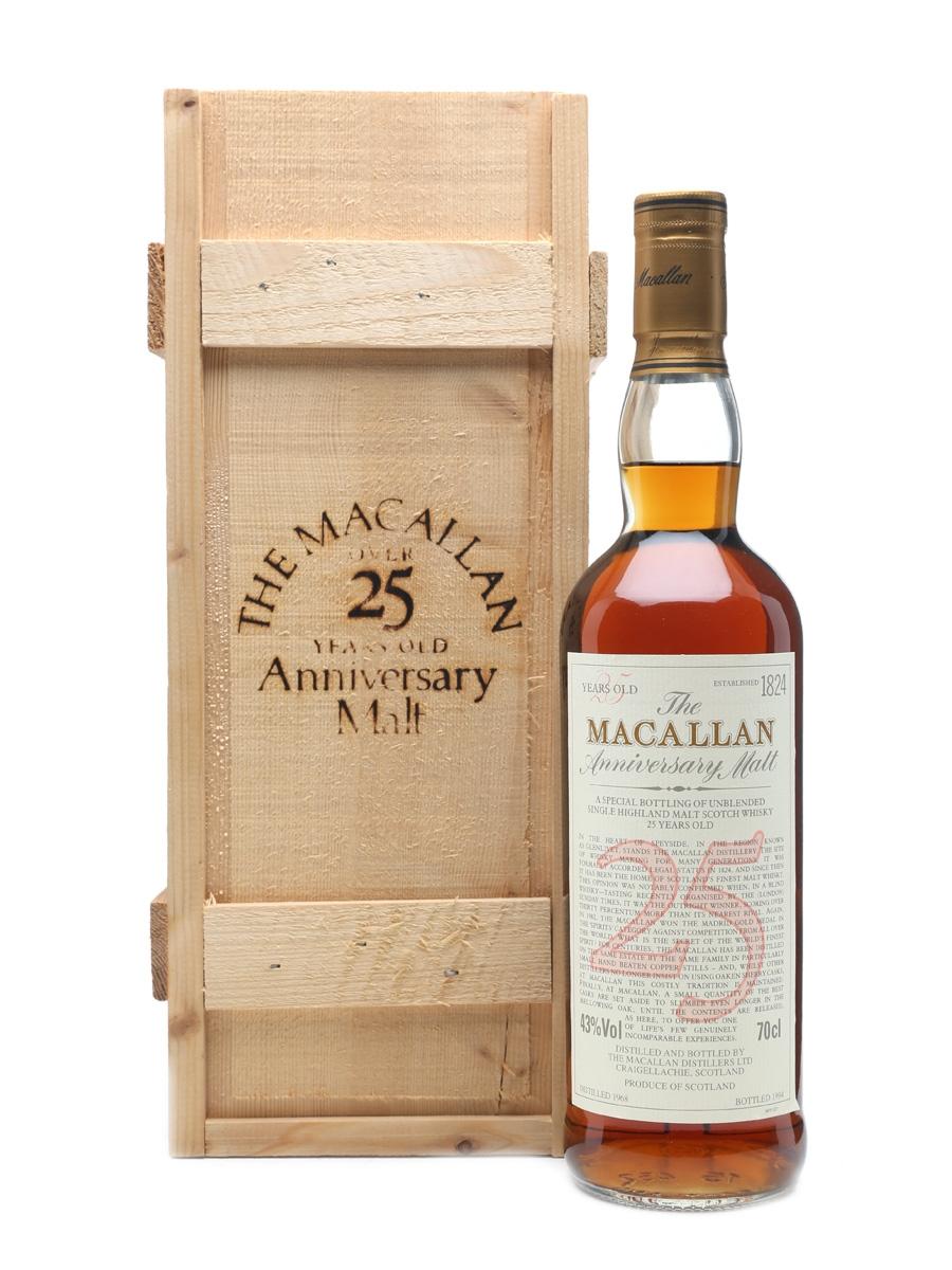 Macallan 1968 Anniversary Malt 25 Years Old 70cl