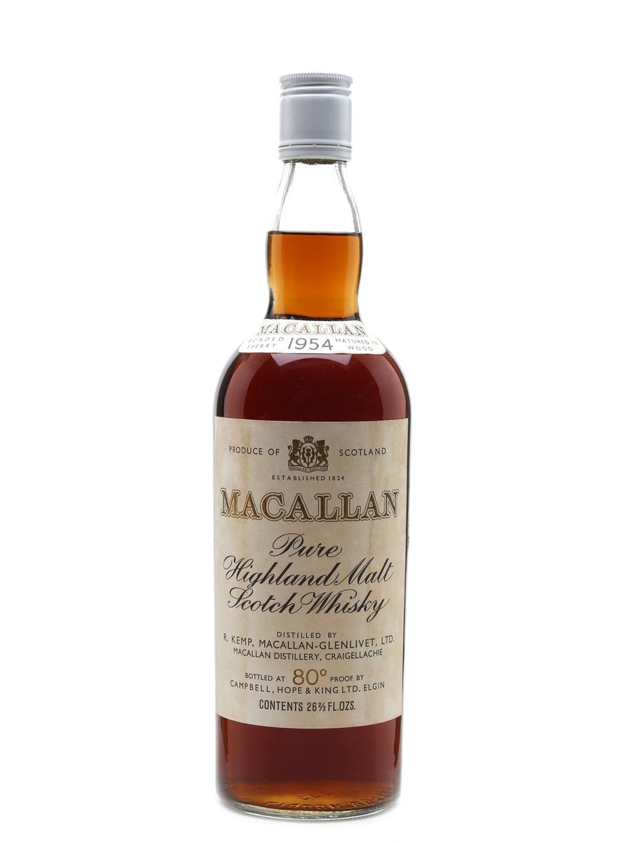 Macallan 1954 Campbell, Hope & King Bottled 1970s 75cl / 45.85%