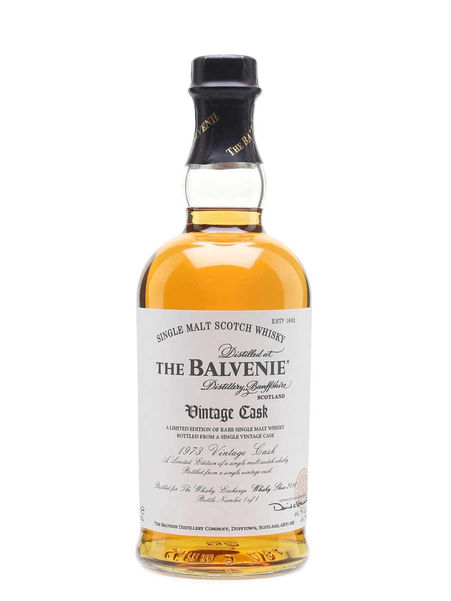 Balvenie 1973 Vintage Cask - 1 of 1 Donated By William Grant & Sons 70cl / 49.7%