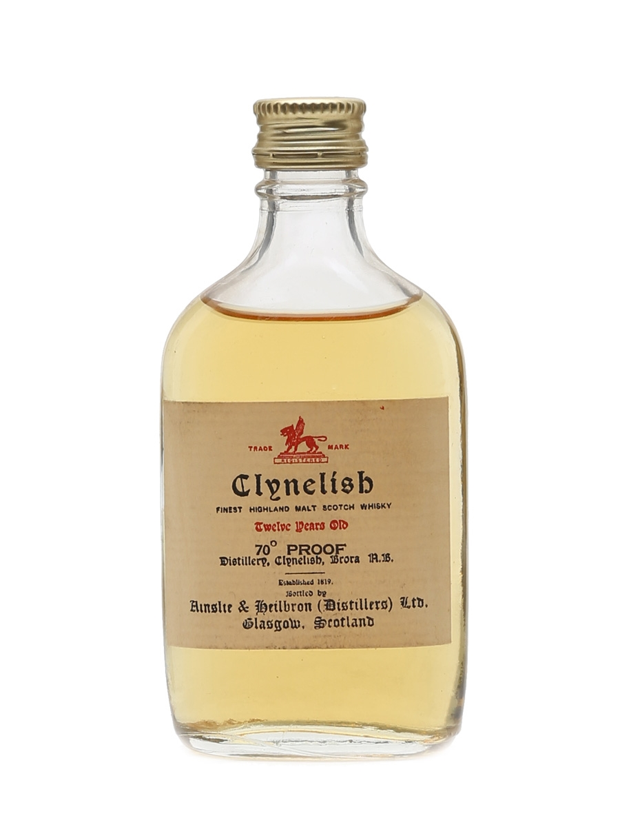 Clynelish 12 Year Old Bottled 1970s 5cl / 40%