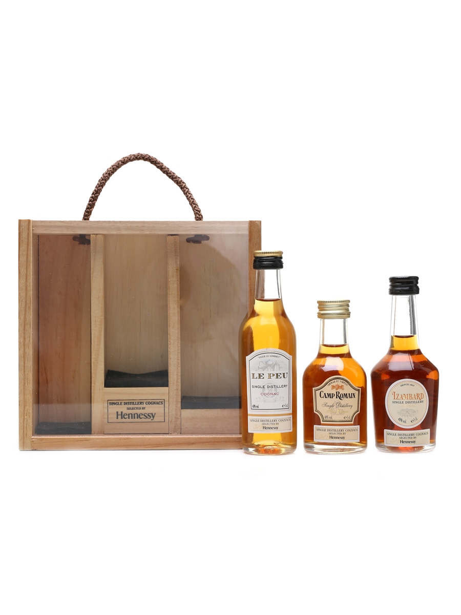 Hennessy Single Distillery Cognacs Le Peu, Campa Romain & Izambard 3 x 5cl / 40%