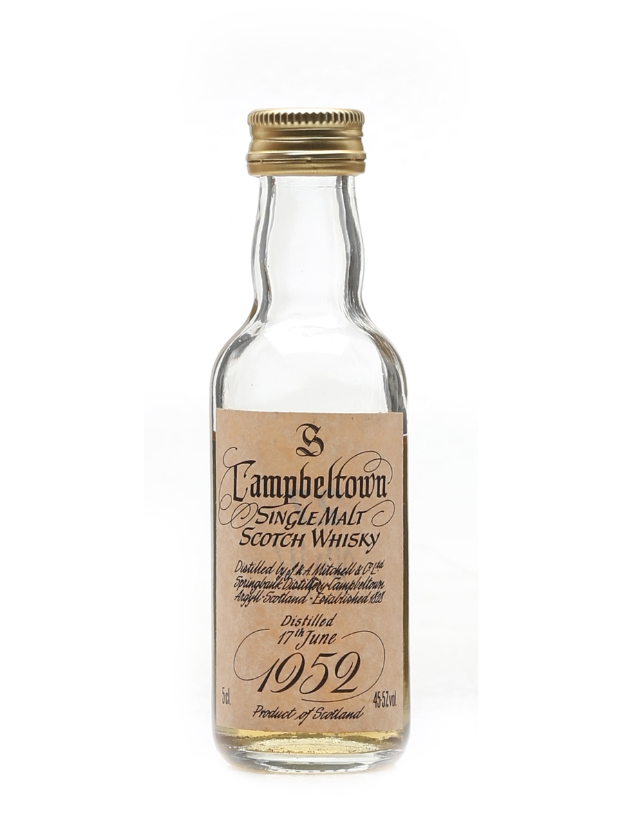 Springbank 1952 Bottled 1980s 5cl / 45.5%