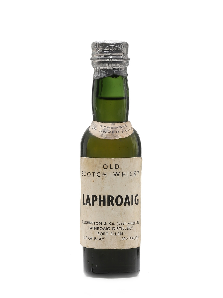Laphroaig Old Scotch Whisky Bottled 1950s 5cl / 46%