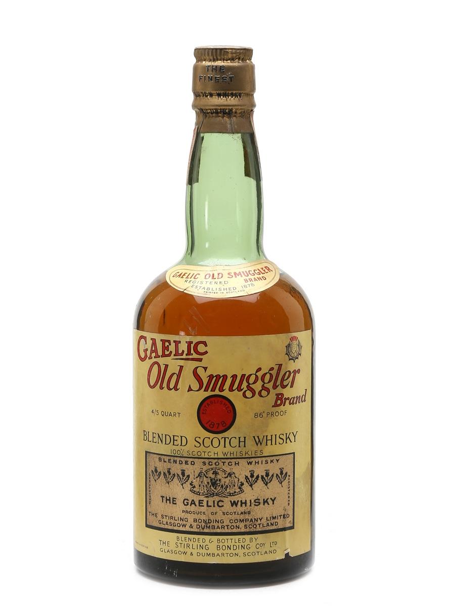 Gaelic Old Smuggler Brand Bottled 1940s - Stirling Bonding Company 75.7cl / 43%