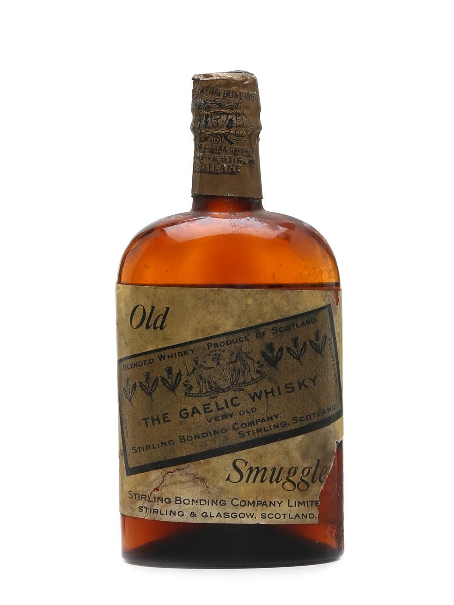 Old Smuggler The Gaelic Whisky Bottled 1920s - Stirling Bonding Company 37.5cl