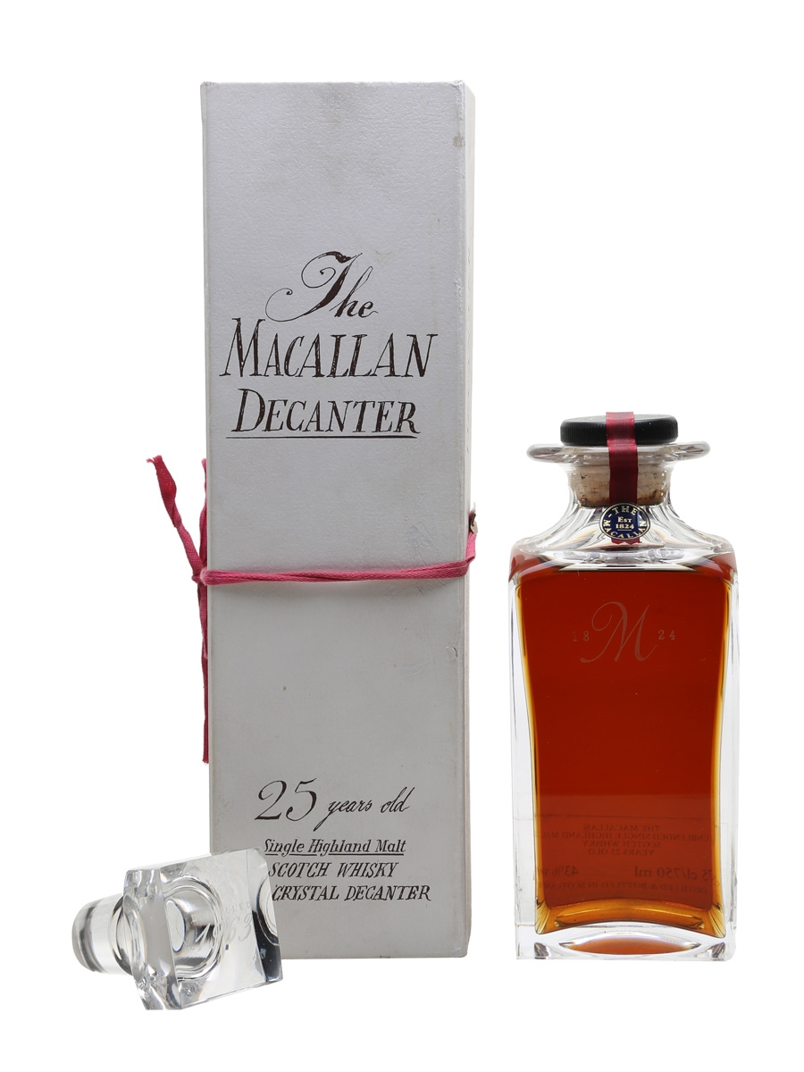 Macallan 1963 Decanter 25 Year Old - Tudor Crystal 75cl / 43%
