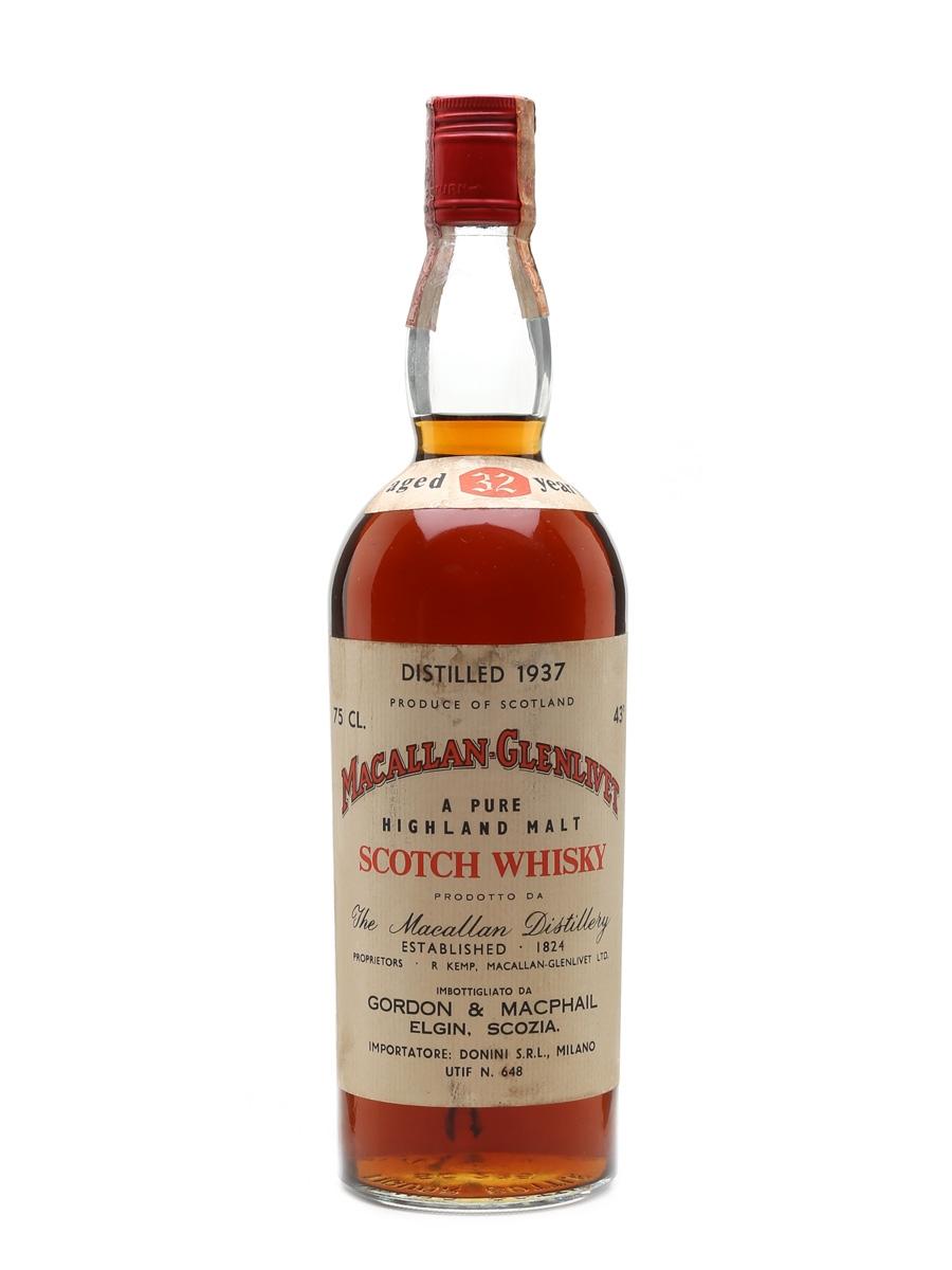 Macallan Glenlivet 1937 Gordon & MacPhail 32 Year Old - Donini 75cl / 43%