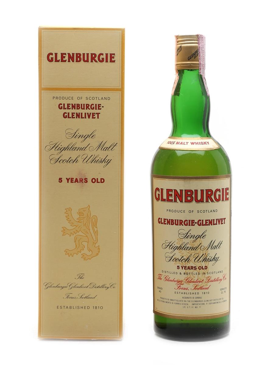 Glenburgie Glenlivet 5 Year Old Bottled 1960s-1970s - Soffiantino 75cl / 40%