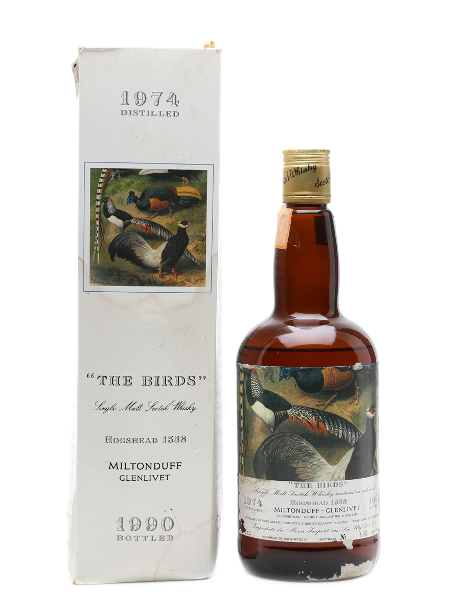 Miltonduff 1974 The Birds Bottled 1990 75cl