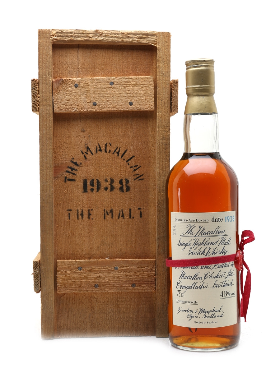 Macallan 1938 Handwritten Label Bottled 1980s - Bottle Number 294 75cl / 43%