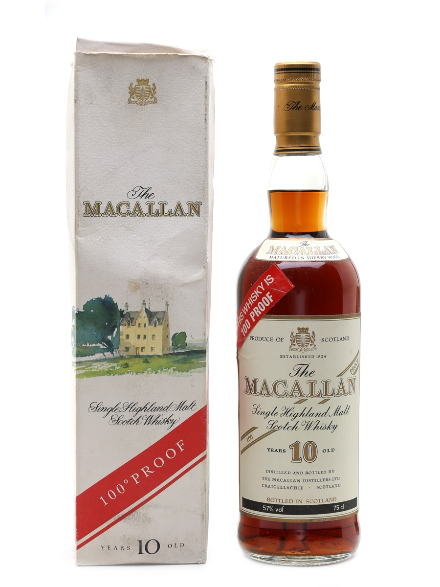 Macallan 10 Year Old 100 Proof Bottled 1980s 75cl / 57%