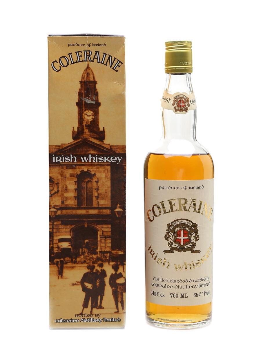 Coleraine Irish Whiskey Bottled 1970s - Coleraine Distillery Limited 70cl / 37.4%