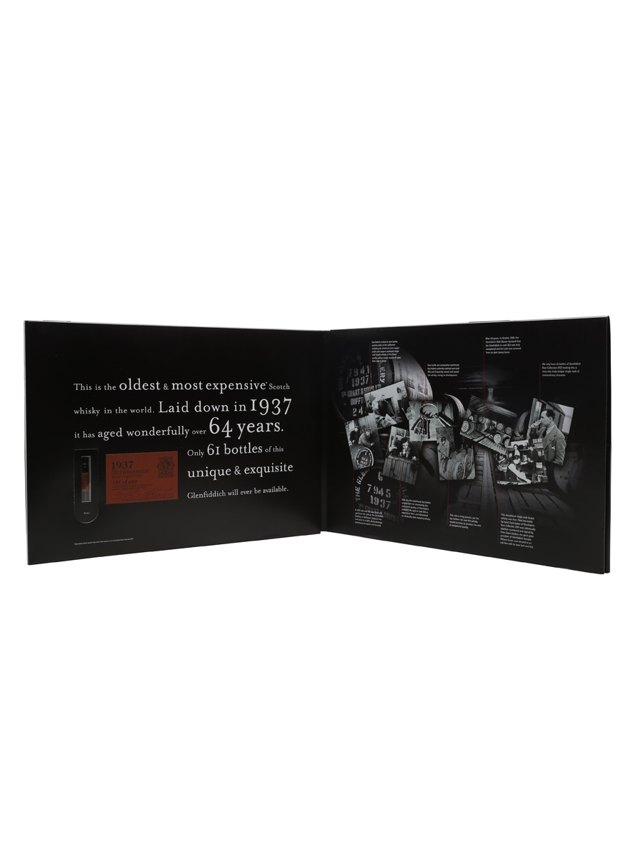 Glenfiddich 1937 64 Year Old - PR Presentation Miniature Pack 0.1cl / 44%