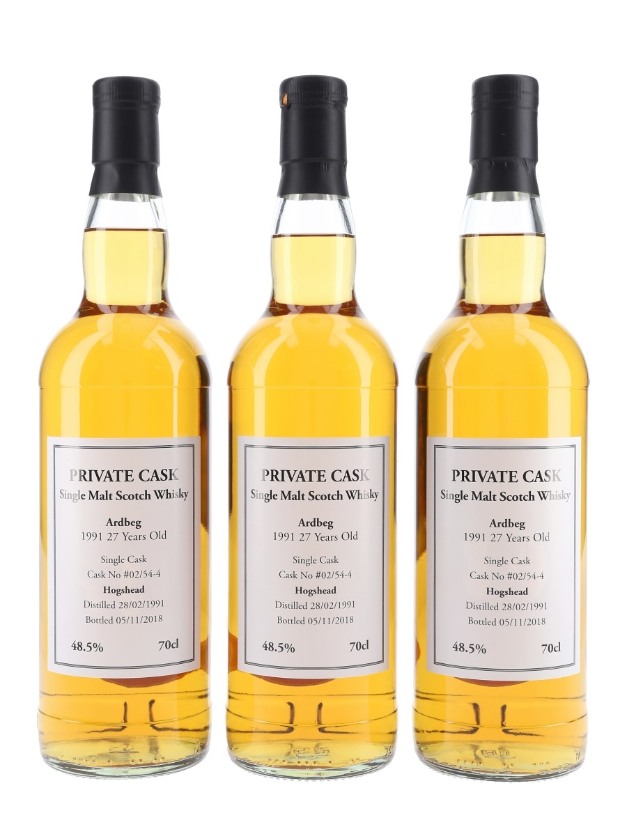 Ardbeg 1991 Private Cask 27 Year Old 3 x 70cl / 48.5%