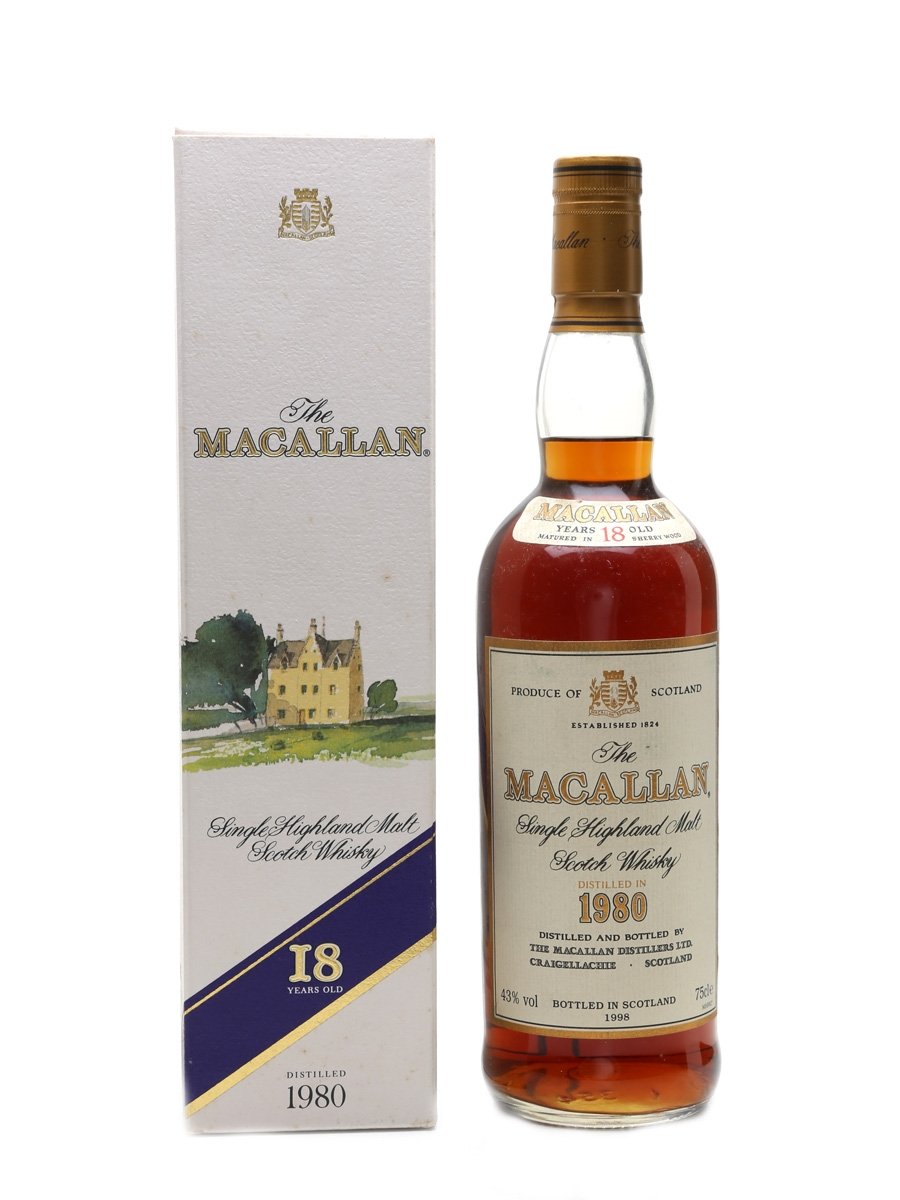 Macallan 1980 18 Year Old Bottled 1998 75cl / 43%