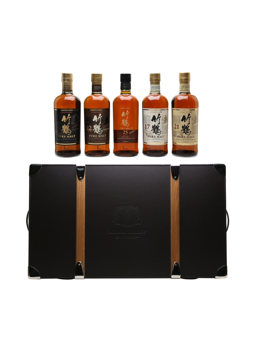 Nikka Taketsuru On The Road Case Pure Malt, 12, 17, 21 & 25 Year Old 5 x 70cl