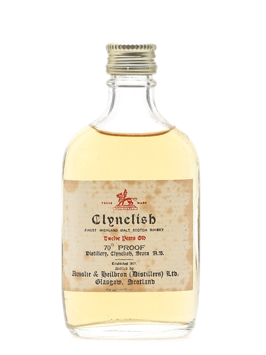 Clynelish 12 Year Old Bottled 1960s-1970s 5cl / 40%