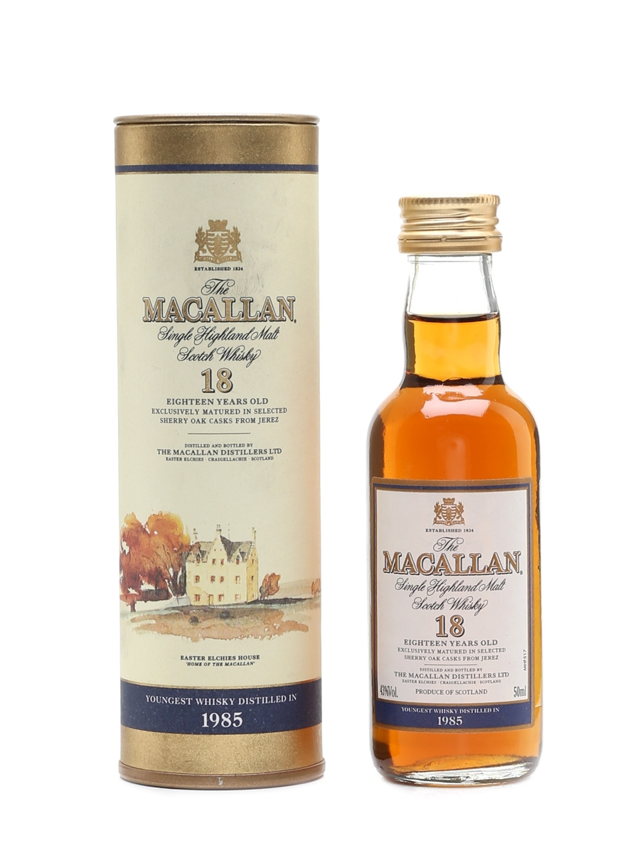 Macallan 1985 And Earlier 18 Year Old 5cl / 43%