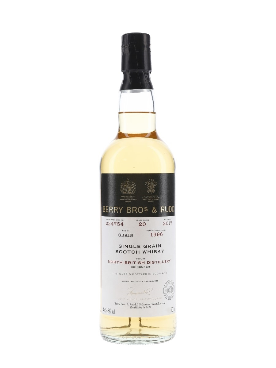 North British 1996 20 Year Old Bottled 2017 - Berry Bros & Rudd 70cl / 54.8%