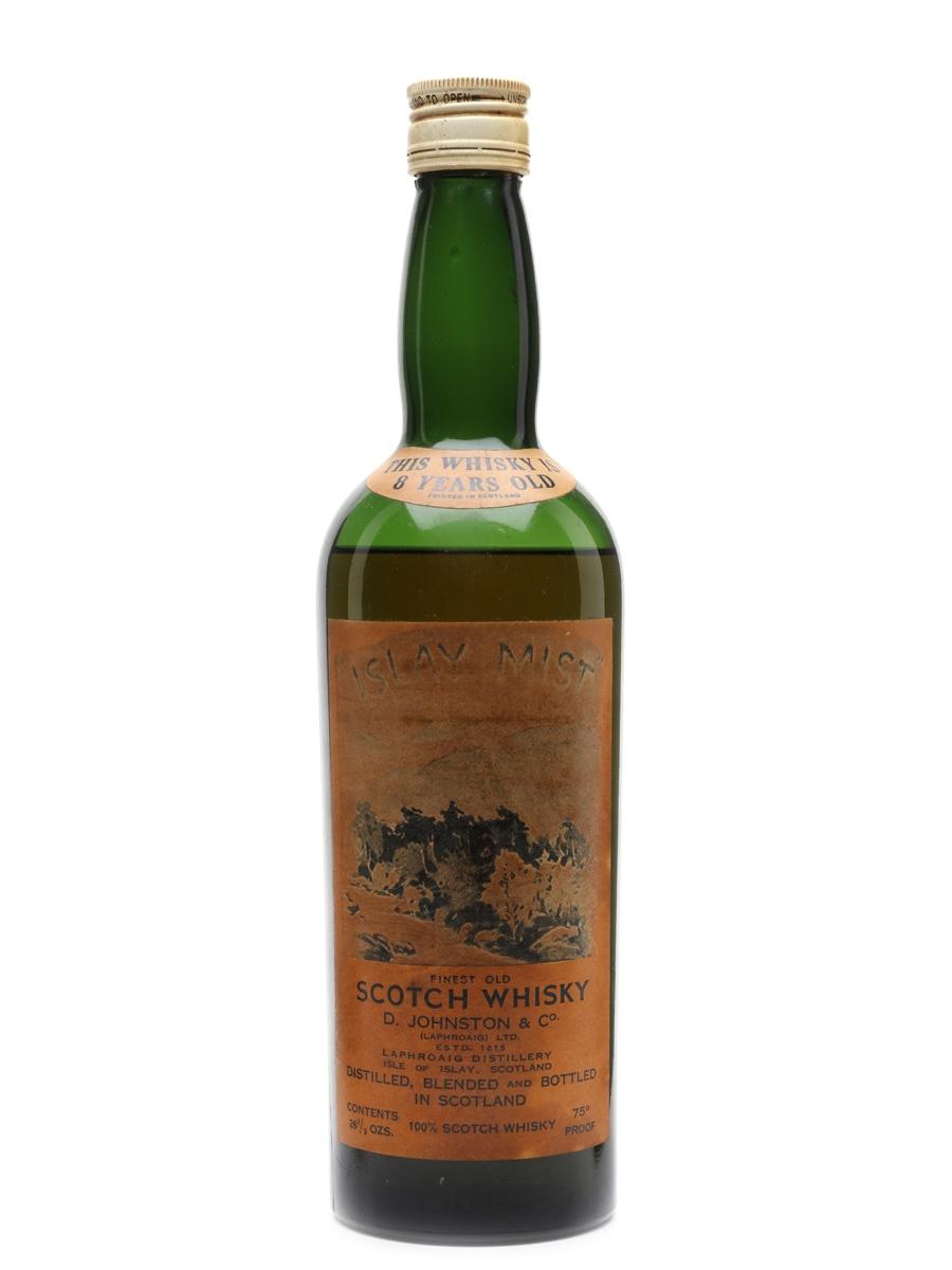 Islay Mist 8 Year Old Bottled 1950s - D Johnston & Co (Laphroaig) 75.7cl / 42.85%