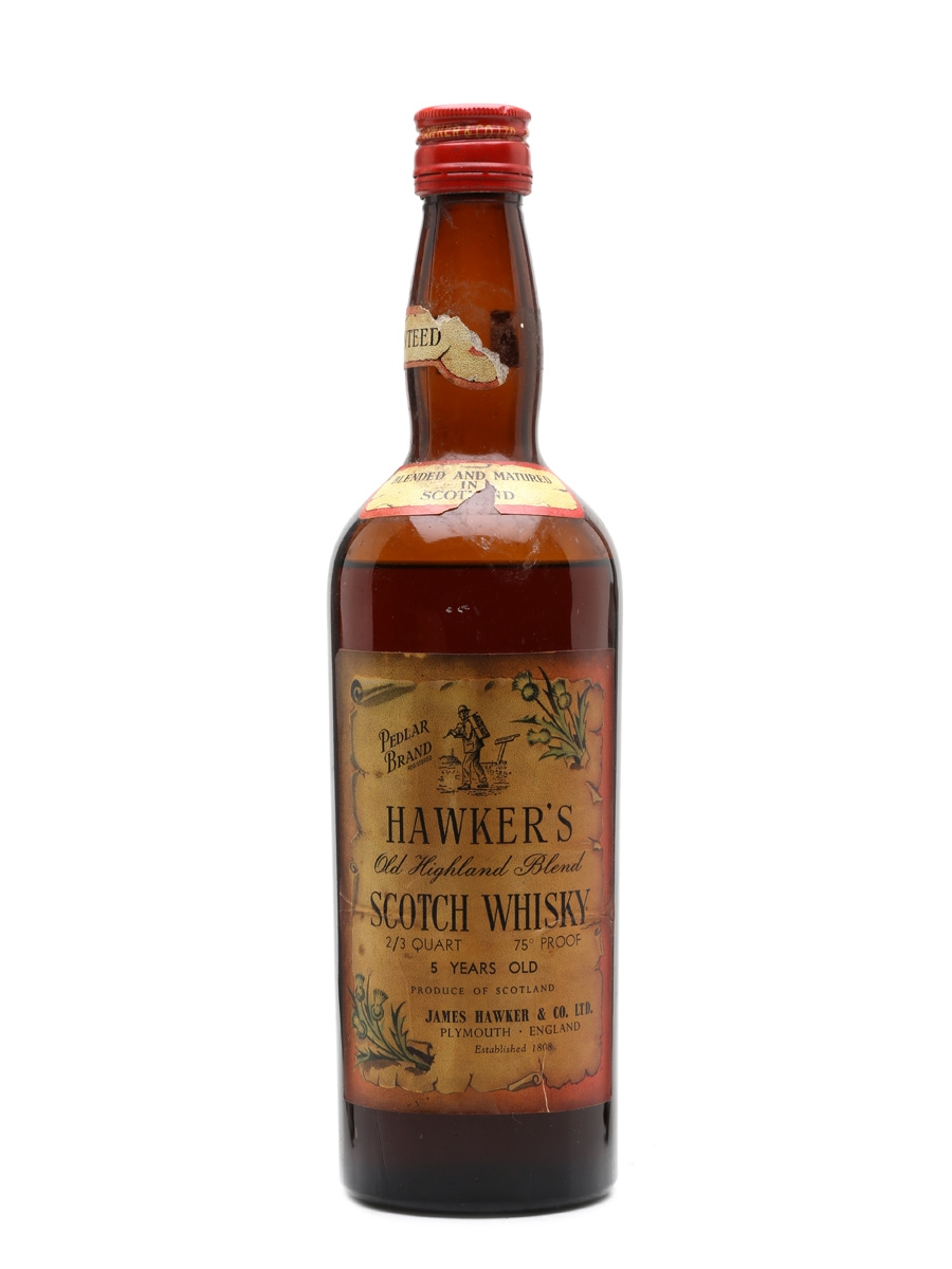 Hawker's 5 Year Old Pedlar Brand Bottled 1960s - James Hawker & Co. 75.7cl / 43%