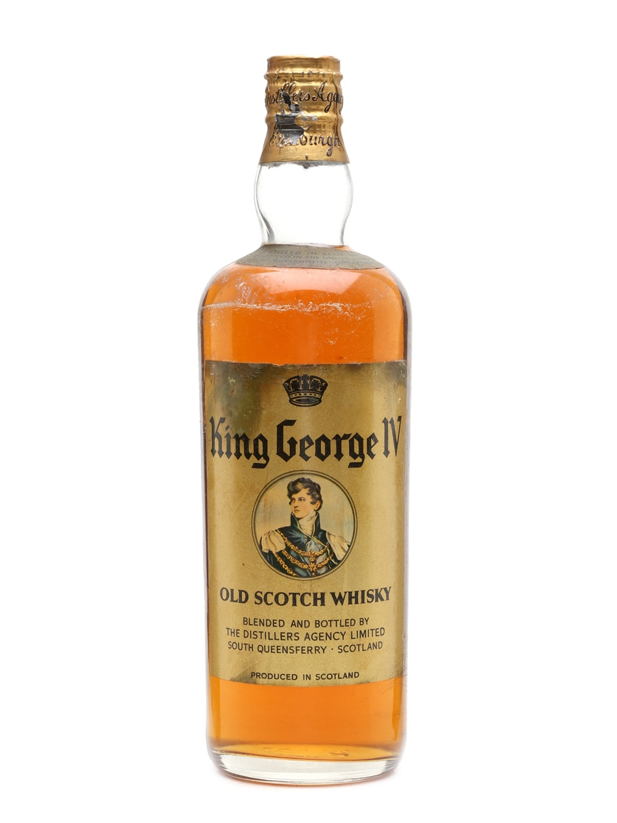 King George IV Spring Cap Bottled 1950s - The Distillers Agency Limited 75cl