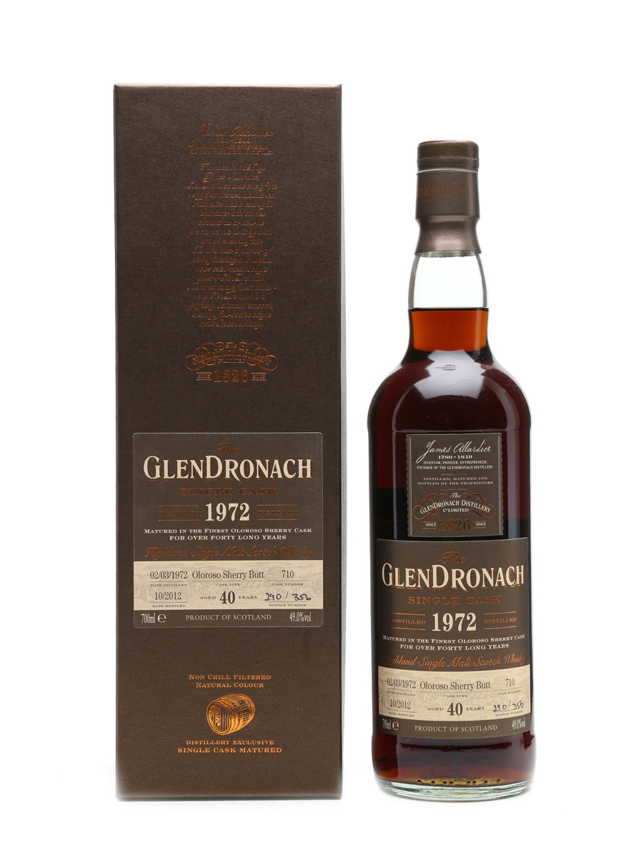 Glendronach 1972 Cask #710 40 Years Old 70cl
