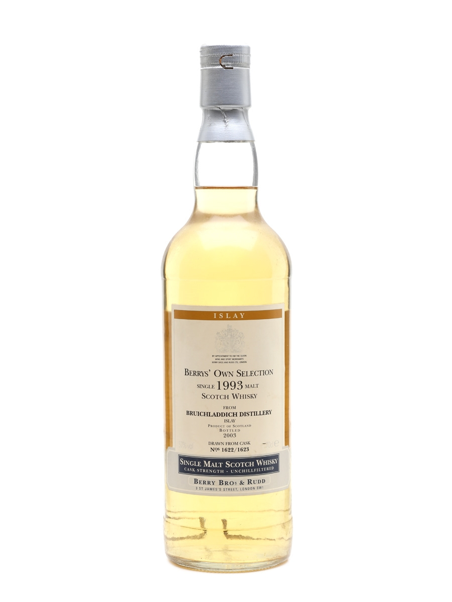 Bruichladdich 1993 Bottled 2003 - Berry Bros & Rudd 70cl / 57%