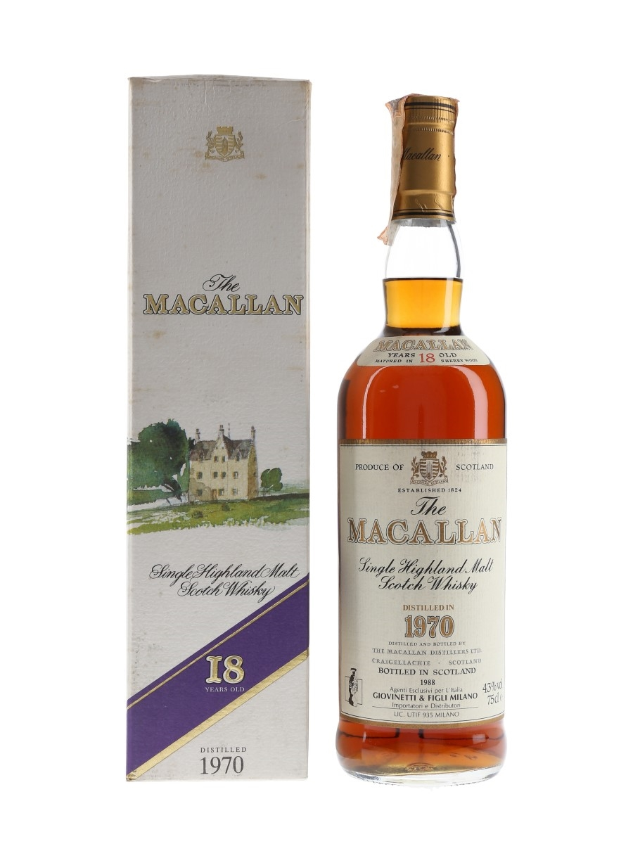 Macallan 1970 18 Year Old - Giovinetti 75cl / 43%