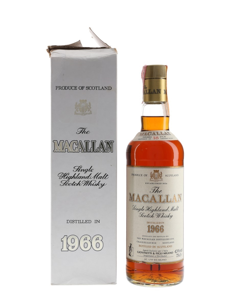 Macallan 1966 18 Year Old Giovinetti 75cl / 43%