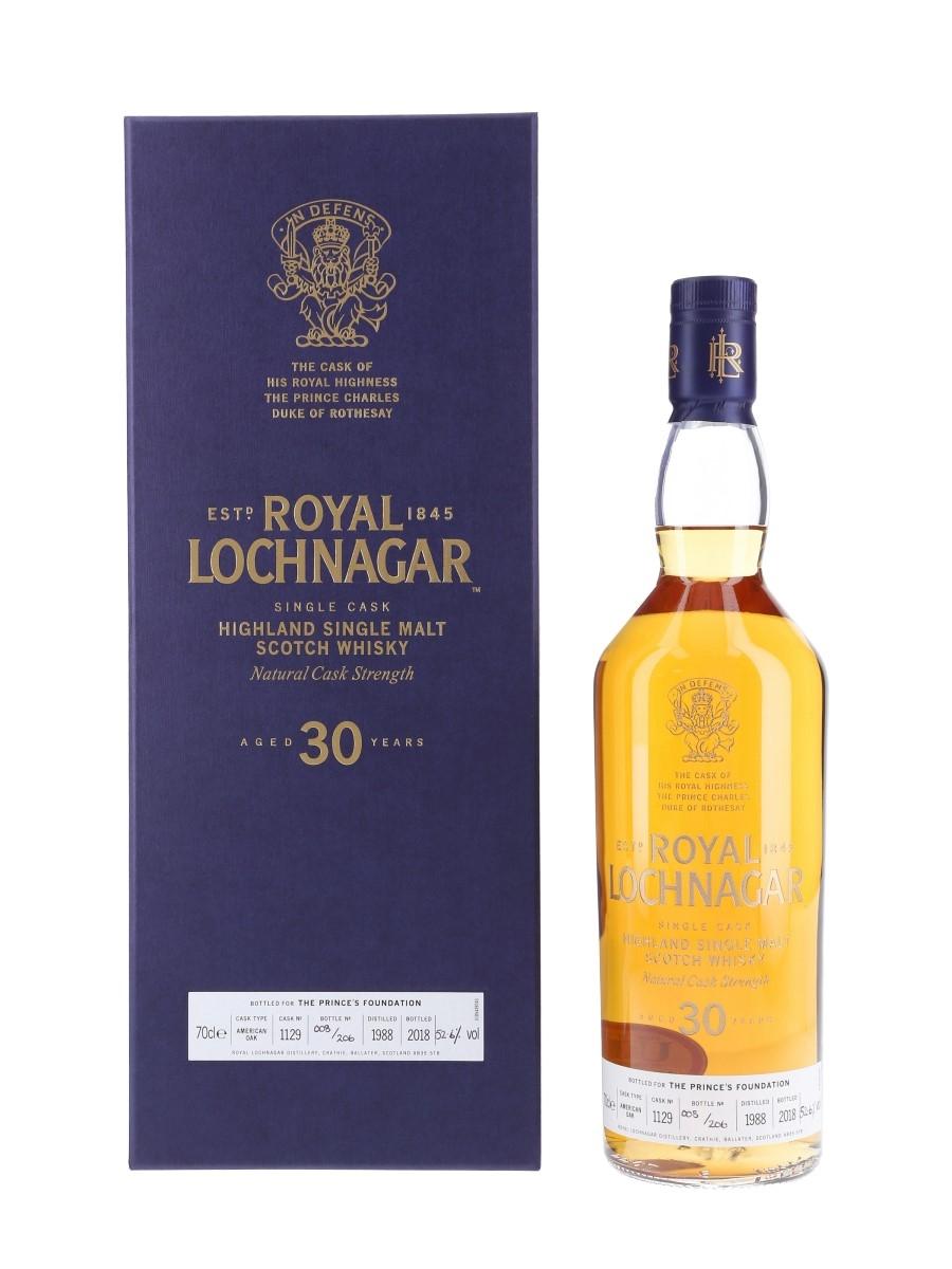 Royal Lochnagar 1988 30 Year Old - Bottle Number 008 Cask of HRH The Prince Charles, Duke of Rothesay 70cl / 52.6%