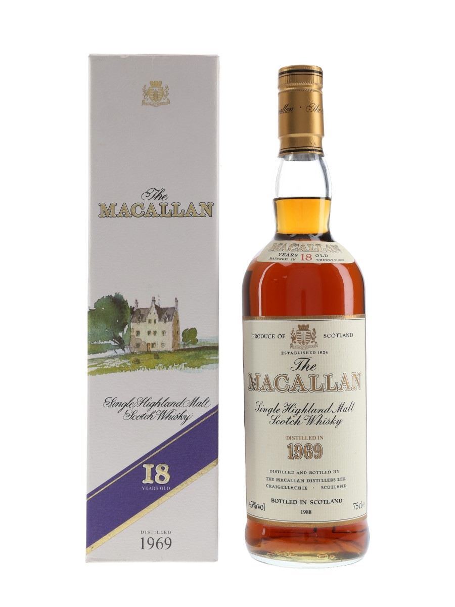 Macallan 1969 18 Year Old Bottled 1988 75cl / 43%