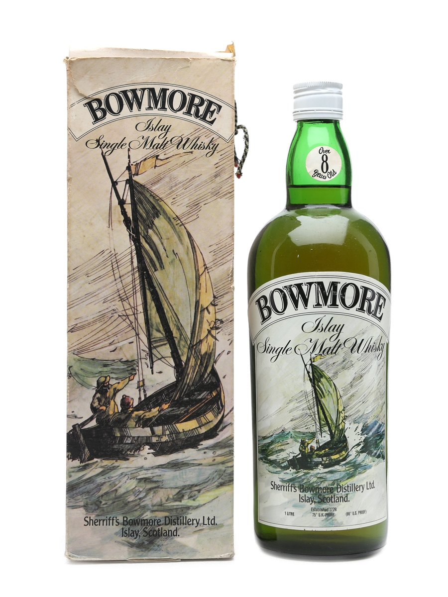 Bowmore Sherriff's 8 Years Old Bottled 1970s 100cl